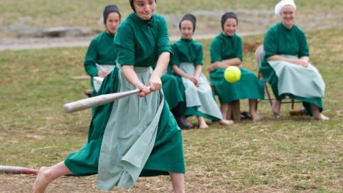 Apparently the Amish in Ohio play some mean softball/baseball.